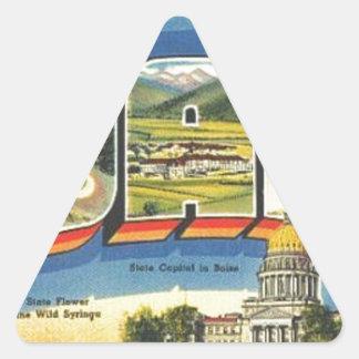Adesivo Triangular Cumprimentos de Idaho