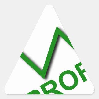 Adesivo Triangular Curva do lucro