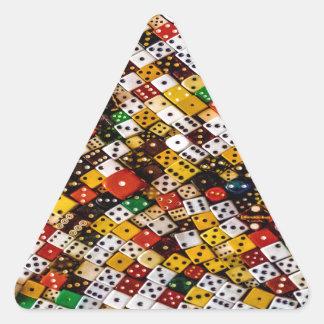 Adesivo Triangular Dados