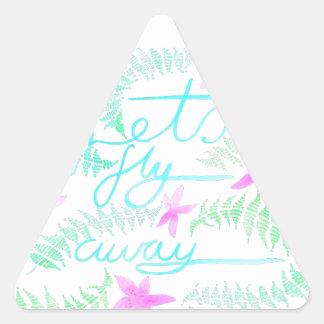 Adesivo Triangular Deixa a mosca ausente
