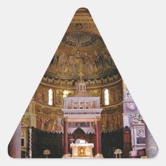 Adesivo Triangular Dentro da igreja yeah