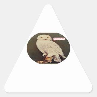 Adesivo Triangular desenho branco da coruja