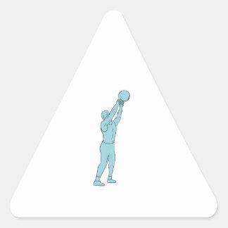 Adesivo Triangular Desenho do balanço de Kettlebell da malhação do
