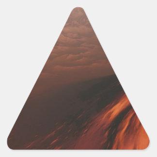 Adesivo Triangular Deserto estrangeiro do planeta