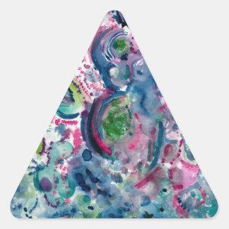 Adesivo Triangular design abstrato colorido do divertimento