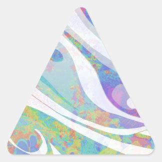 Adesivo Triangular Design abstrato das ondas das cores