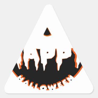 Adesivo Triangular Design bonito do Dia das Bruxas
