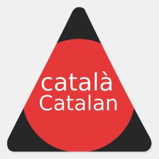 Adesivo Triangular Design Catalan da língua