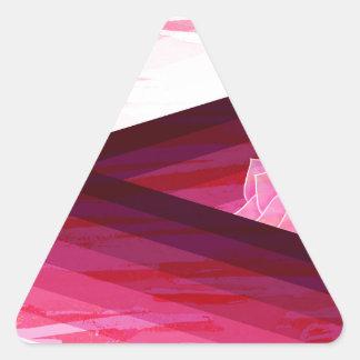 Adesivo Triangular Design contemporâneo sereno da flor