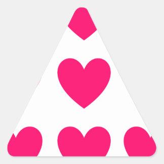 Adesivo Triangular Design cor-de-rosa do coração