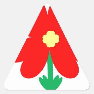 Adesivo Triangular Design da flor do coração