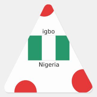 Adesivo Triangular Design da língua da bandeira e do Igbo de Nigéria