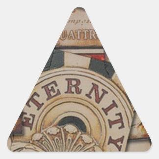 Adesivo Triangular Design de cartão abstrato do jogo