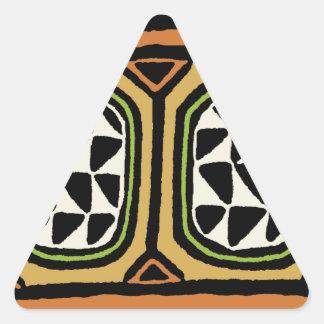 Adesivo Triangular Design de matéria têxtil de Kuba do africano