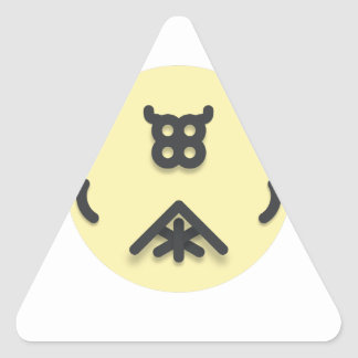 Adesivo Triangular Design de vista asiático