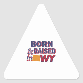 Adesivo Triangular Design de Wyoming