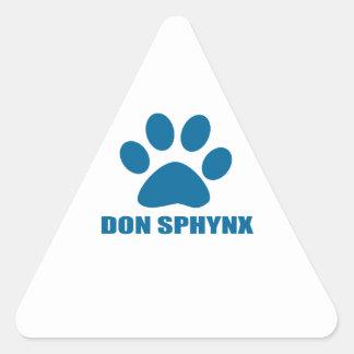 ADESIVO TRIANGULAR DESIGN DO CAT DE DON SPHYNX