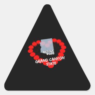 Adesivo Triangular Design do coração da vela para o estado de arizona