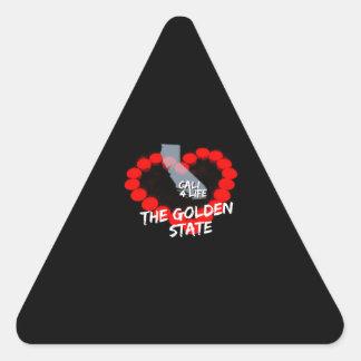 Adesivo Triangular Design do coração da vela para os Estados da