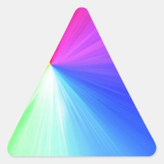 Adesivo Triangular Design do espectro do arco-íris