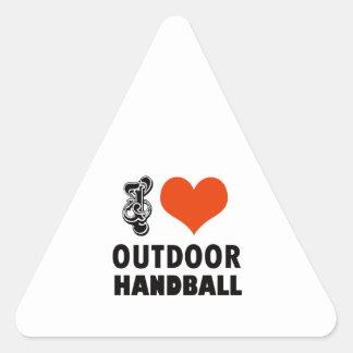 Adesivo Triangular Design do handball