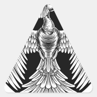 Adesivo Triangular Design do pássaro do fogo de Phoenix