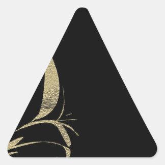 Adesivo Triangular Design do teste padrão do Flourish do preto e do