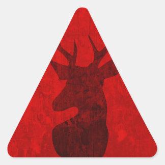 Adesivo Triangular Design do veado vermelho