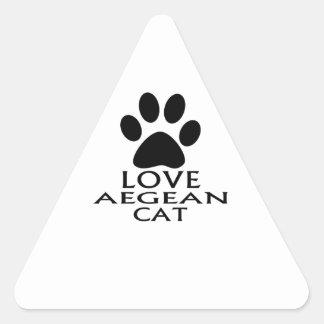 ADESIVO TRIANGULAR DESIGN EGEU DO CAT DO AMOR