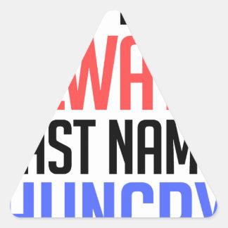 Adesivo Triangular design engraçado, do nome sobrenome sempre com