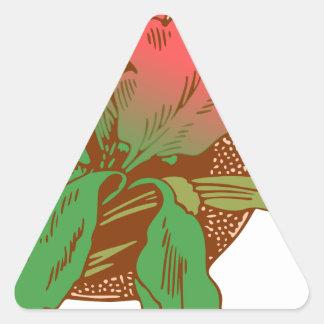 Adesivo Triangular Design floral