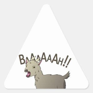 Adesivo Triangular Design gritando do macarronete do Doodle da cabra