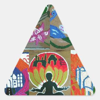 Adesivo Triangular Design indiano étnico