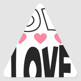 Adesivo Triangular design legal do amor