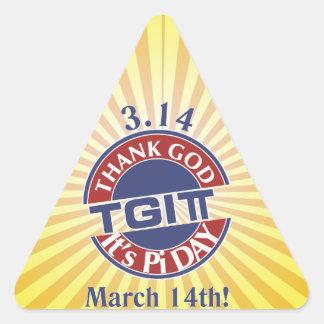 Adesivo Triangular Deus do obrigado de TGIPi seu dia logotipo