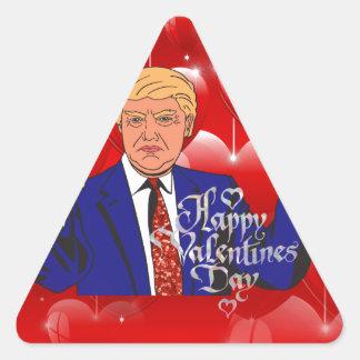 Adesivo Triangular dia dos namorados Donald Trump