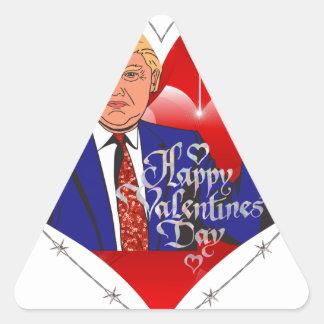 Adesivo Triangular dia dos namorados feliz Donald Trump