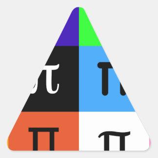 Adesivo Triangular dia feliz do pi do colorblock