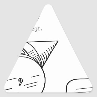Adesivo Triangular Diagrama esquemático do fogo-de-artifício do