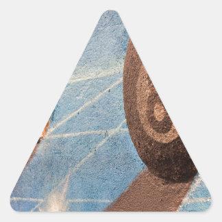 Adesivo Triangular Disparado da ilustração das bolas de bilhar na