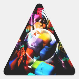 Adesivo Triangular Diversidade no local de trabalho ou no escritório