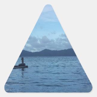 Adesivo Triangular Doca do barco da ilha