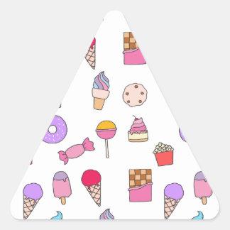 Adesivo Triangular Doces, doces e bolo