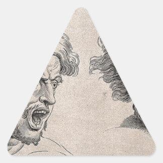 Adesivo Triangular Dois desenhos das caras irritadas