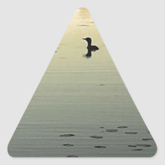 Adesivo Triangular Dois mergulhões-do-norte