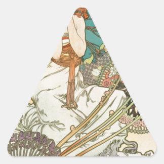 Adesivo Triangular Donzela na oração