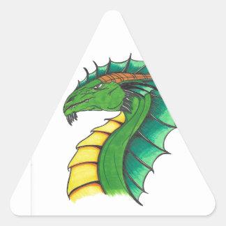 Adesivo Triangular Dragão tirado mão