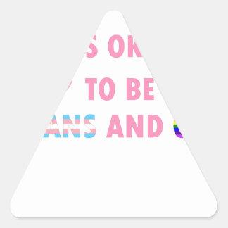 Adesivo Triangular É aprovado ser o transporte e o gay (v1)