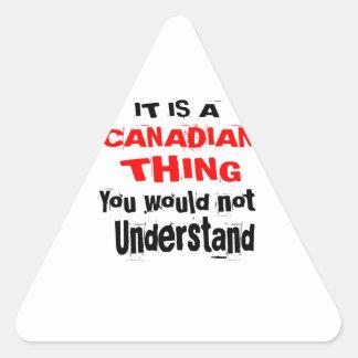 ADESIVO TRIANGULAR É DESIGN CANADENSE DA COISA
