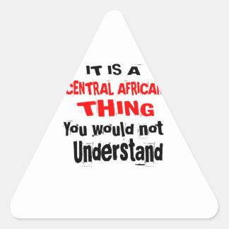 ADESIVO TRIANGULAR É DESIGN DA ÁFRICA CENTRAL DA COISA